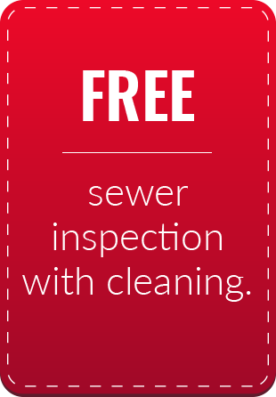 Free Sewer Inspection with Cleaning